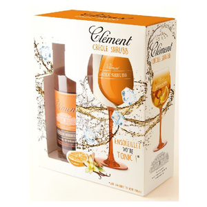 Clément Créole Shrubb Orange Liqueur 40% with 1 glassware 700ml
