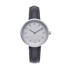 PLAIN SUPPLIES Watch: Conc 33 Grey Leather