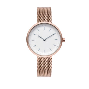 PLAIN SUPPLIES Watch: Conc 33 Rose Gold Stainless Steel Mesh