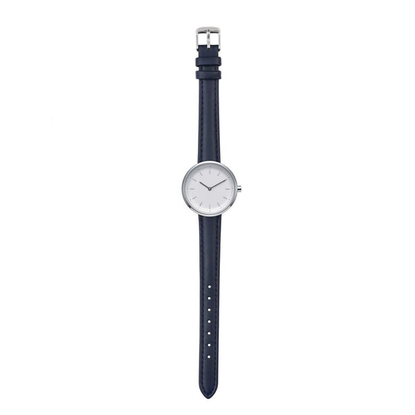 PLAIN SUPPLIES Watch: Conc 33 Navy Leather