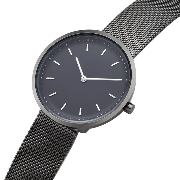 PLAIN SUPPLIES Watch: Conc 39 Gunmetal Stainless Steel Mesh