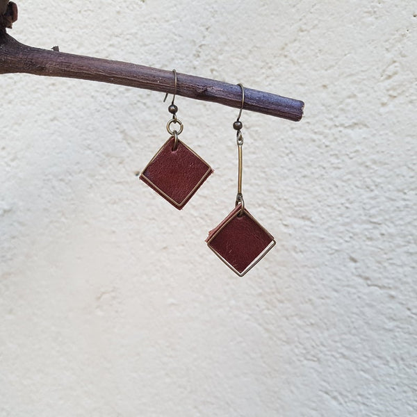 KINIES HANDMADE: Uneven Diamond Shape Earrings