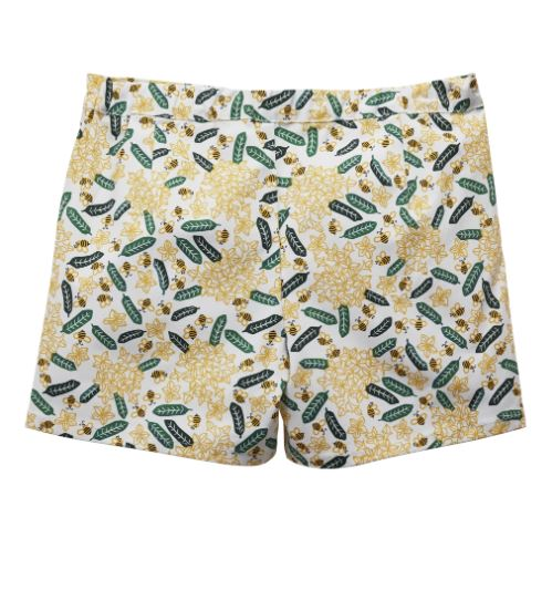MANO PLUS | Pagoda Kingdom | Frangipani Print Shorts