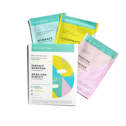 PATCHOLOGY | FlashMasque Sheet Mask: Perfect Weekend Trio