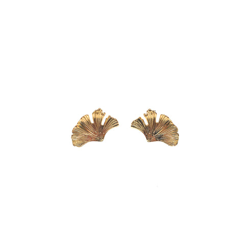 CINDERTOELLA Earrings: Gingko (Small) Gold