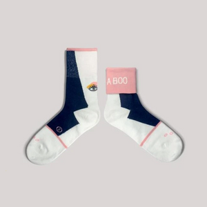 GOODPAIR SOCKS: Peekaboo / Off White