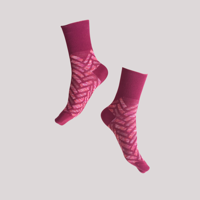 GOODPAIR SOCKS: Seven Sunday Socks / Burgundy