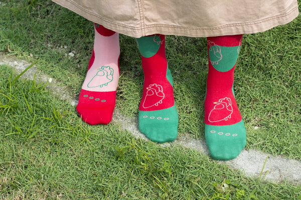 GOODPAIR SOCKS: Three Legged Pair / Dark Fern Green