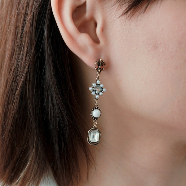 Mano Plus Cesar Black Earrings