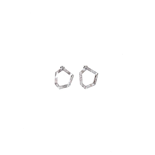 Mano Plus Pisa Marble Grey Earring