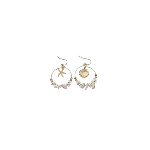 Mano Plus El Mar Starfish & Seashell Earrings