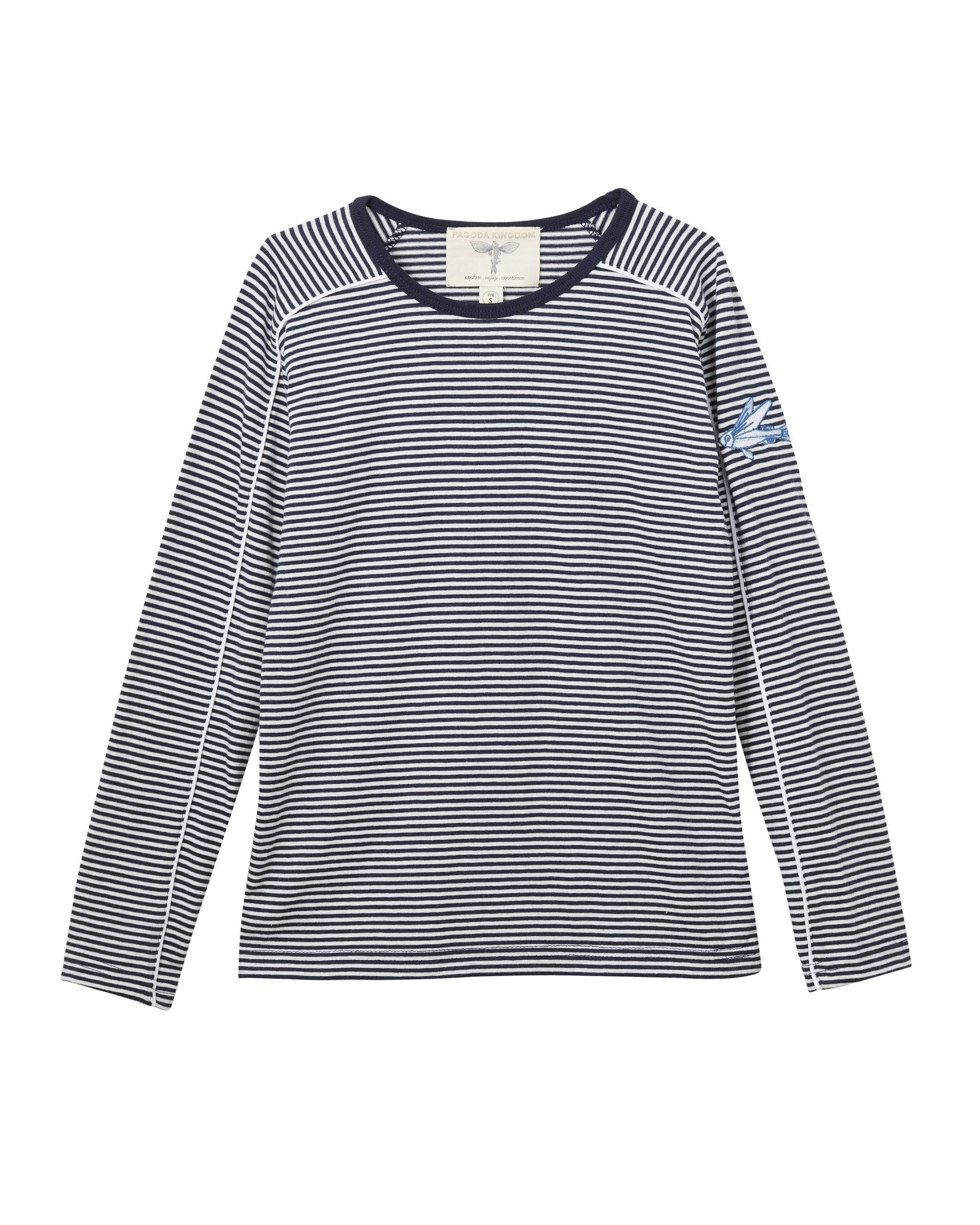MANO PLUS | Pagoda Kingdom | IKANN Navy Stripe T-Shirt