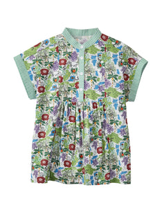 MANO PLUS | Pagoda Kingdom | Rainforest Print Blouse