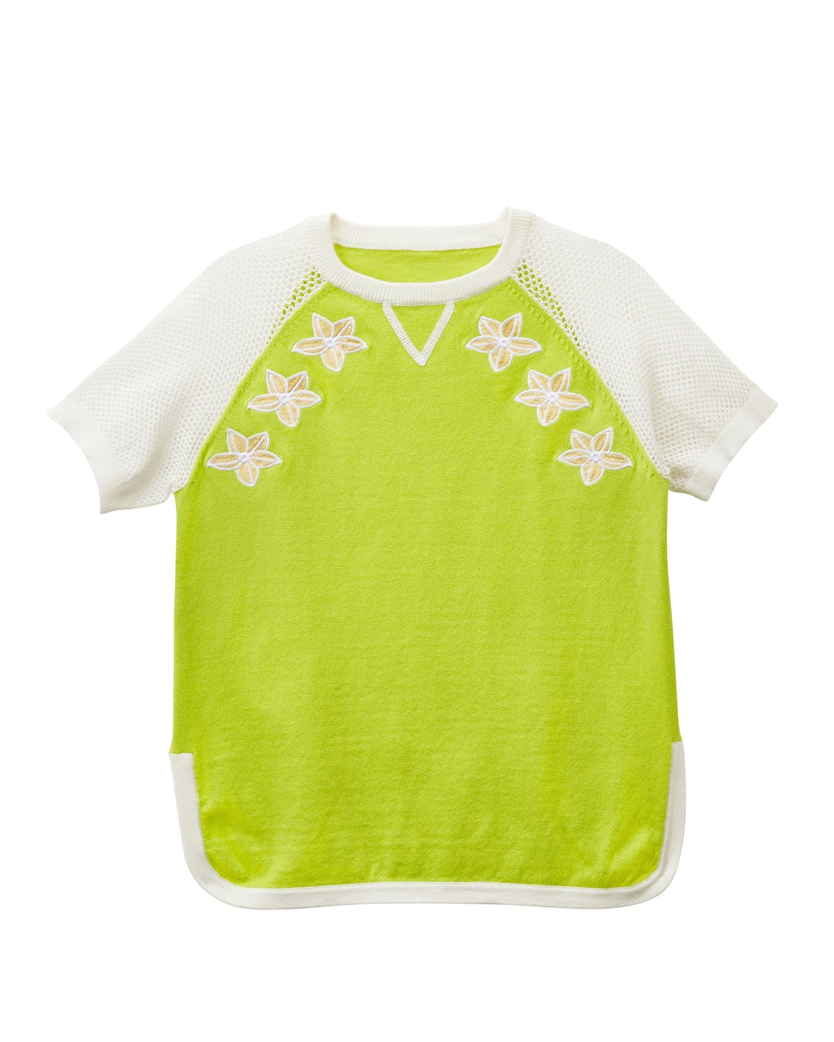 MANO PLUS | Pagoda Kingdom | Frangipani Knitted Top