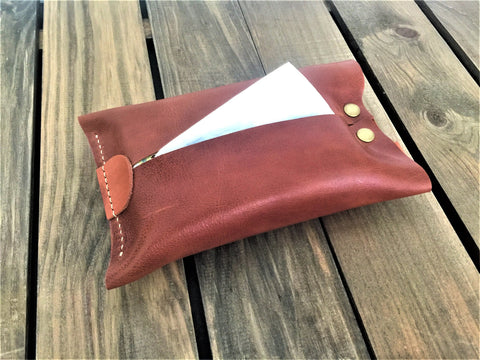 Leather Tissue Holder (Large)