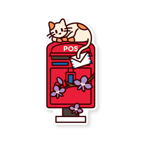 LOKA MADE Malaysia Postbox Postcard Set C