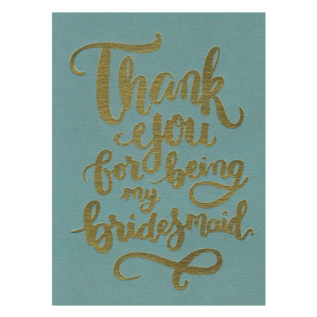 PAPERGEEK Greeting Cards: Thank You For Being My Bridesmaid