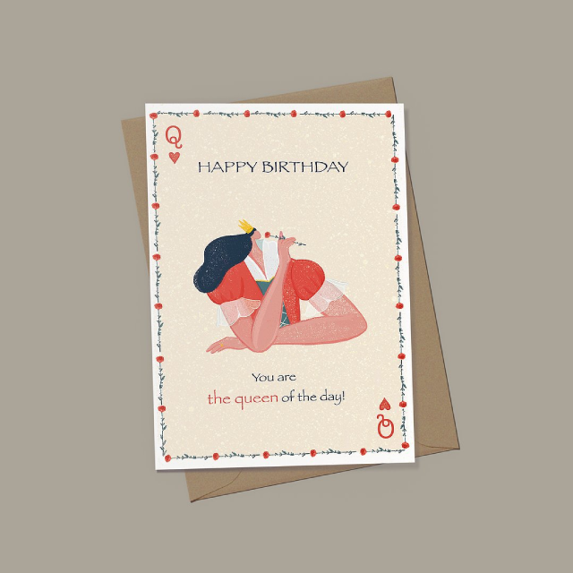 EJ MEMENTO Greeting Cards: Queen of the day