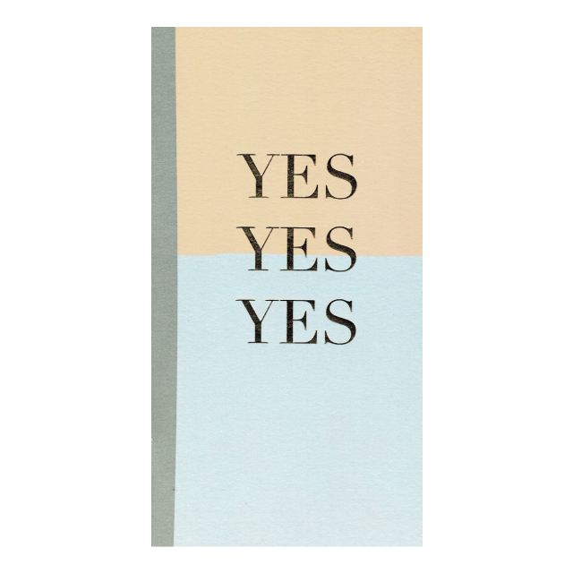 PAPERGEEK Positivity Notebook : Yes Yes Yes