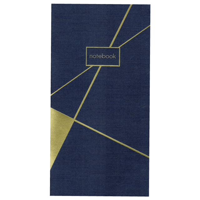 PAPERGEEK Gold Foil Slim Notebook: Blue