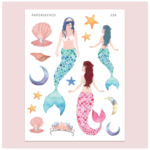 PAPERGEEK Mermaid Stickers 226