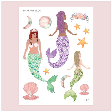 PAPERGEEK Mermaid Stickers 227