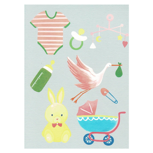 PAPERGEEK Greeting Cards: New Born Baby Blue