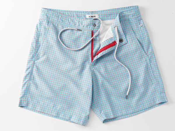 Shorts - Peranakan Cina Light Blue