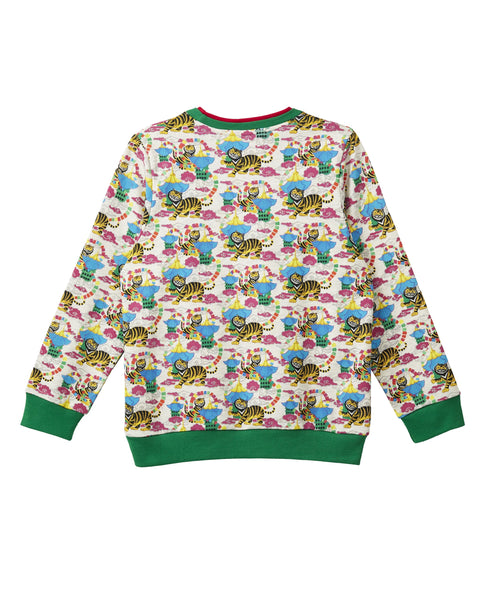 MANO PLUS | Pagoda Kingdom | Pagoda Tiger Printed Sweatshirt