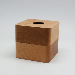 AISLEY Square Solid Wood Tissue Box