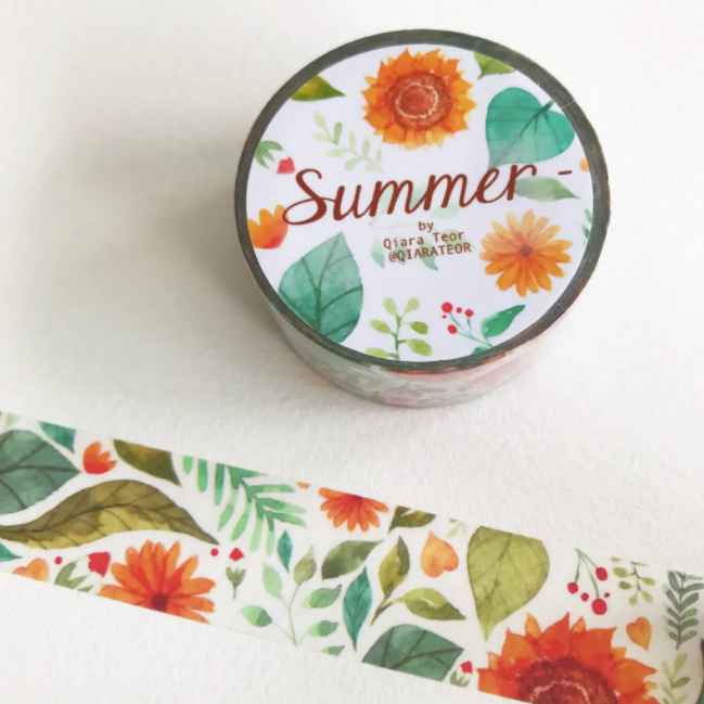 Qiara's Summer Washi Tape