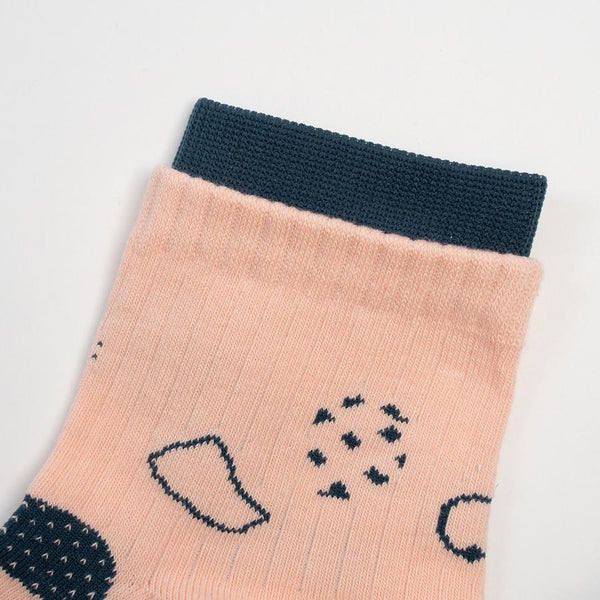 GOODPAIR SOCKS X ANAABU | Bumi Series Socks: Grow Tropical Peach