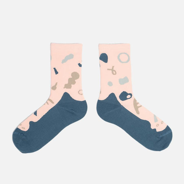 GOODPAIR SOCKS X ANAABU | Bumi Series Socks: Plant Tropical Peach