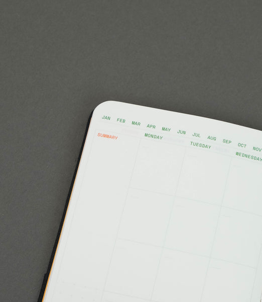 A6 Softback Cover Monthly Planner+Dot Grid