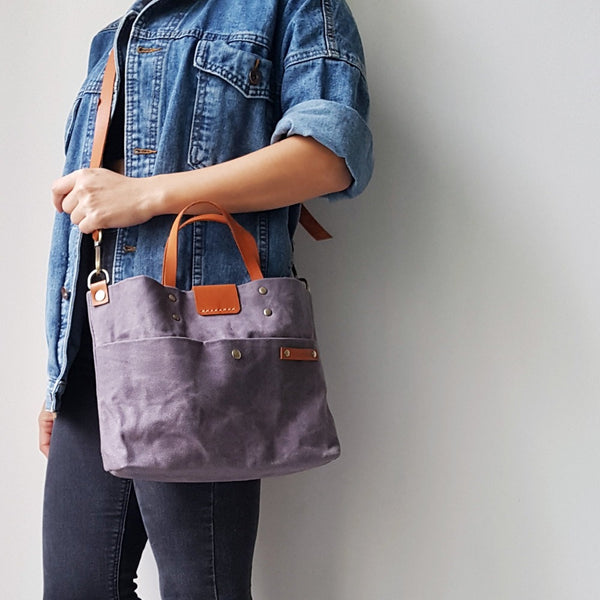 Waxed Canvas Tote & Sling