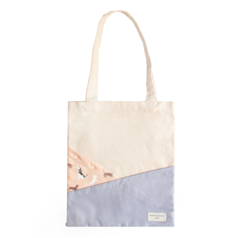 WOOFPACKS CO Tote Bag: Simple Happiness