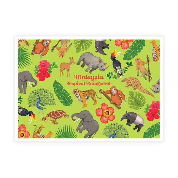 LOKA MADE Postcard - Tropical Rainforest