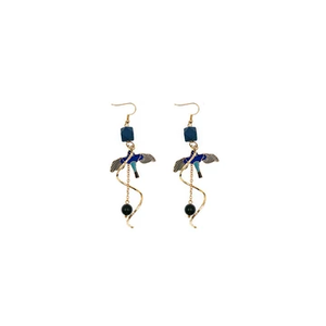 Mano Plus Ally Blue Swallow Earrings