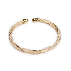 Zada Crystal Gold Cuff