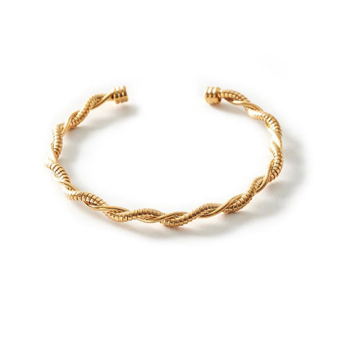 Aili Twisted Gold Cuff
