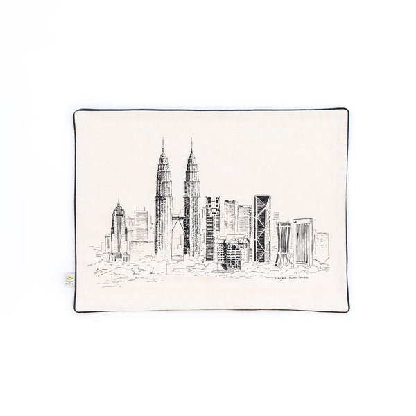 MANO PLUS | BINGKA KLCC Twin Tower Skyline Pillowcase
