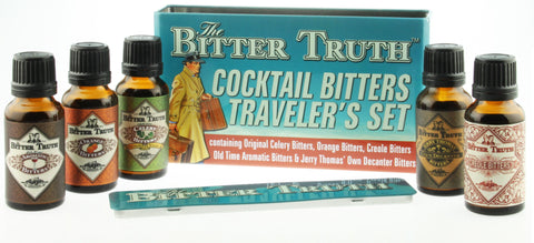 The Bitter Truth Cocktail Bitters Traveler's Set Gift Tin (20ml x 5)