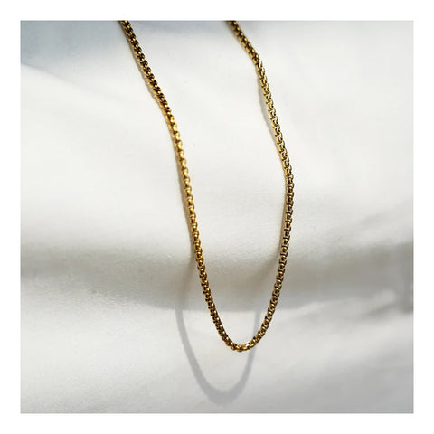 GUNG JEWELLERY Necklace: Box Chain Gold