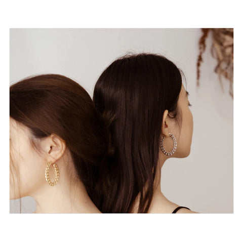 GUNG JEWELLERY Earrings: Chain Hoop