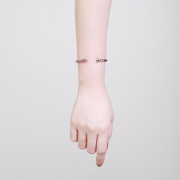 GUNG JEWELLERY Cuff: Daryn Twisted Silver