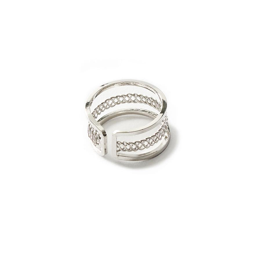 Eva Twisted Silver Ring