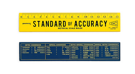 Standard of Accuracy Ruler