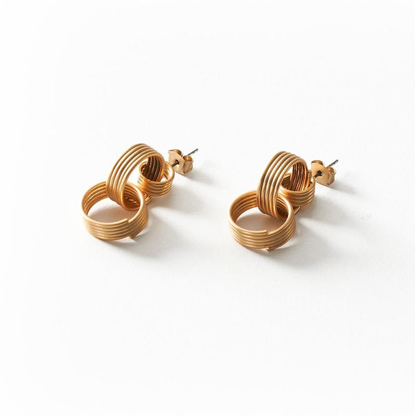 GUNG JEWELLERY Earrings: Cassi Matte Gold
