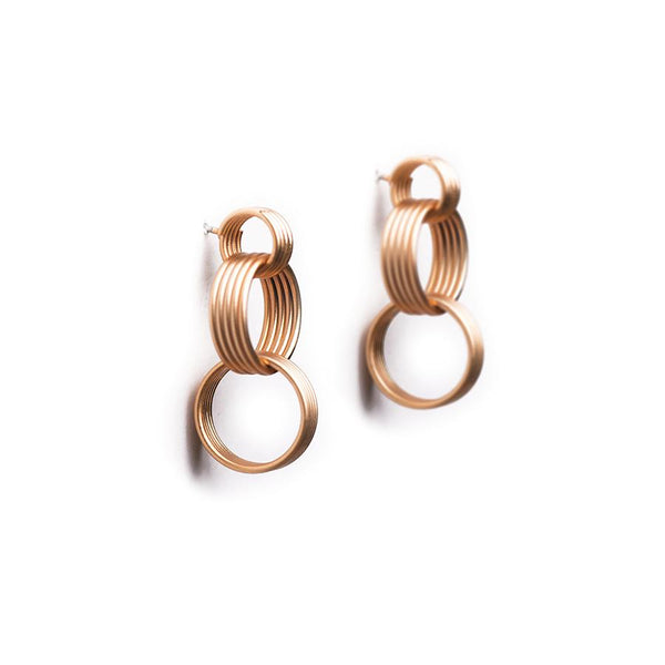 Cassi Matte Gold Earrings