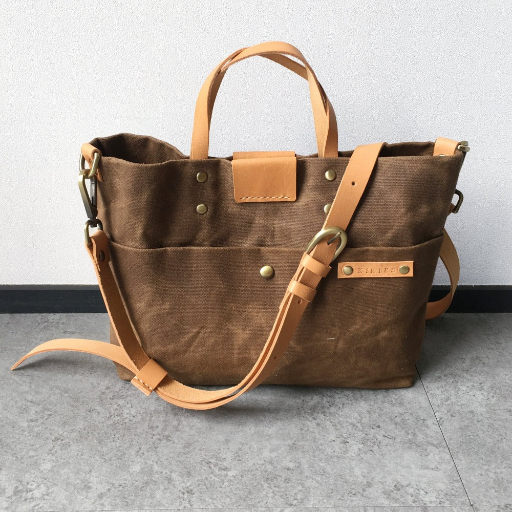 Mano Plus Waxed Canvas Tote & Sling